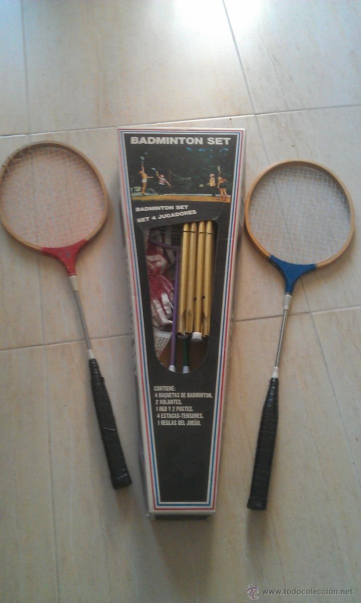 SET DE BADMINTON CON 6 RAQUETAS - GOLY (Coleccionismo Deportivo - Material Deportivo - Otros deportes)