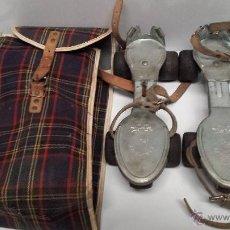 Coleccionismo deportivo: ANTIGUOS PATINES - SANCHESKI - CON BOLSA DE TRANSPORTE ORIGINAL. Lote 152841120
