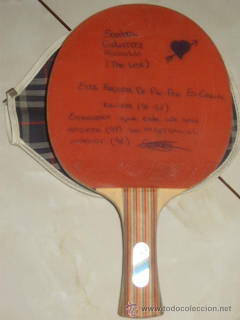 Coleccionismo deportivo: PING PONG.RAQUETA O PALA DE PING PONG MARCA SCHILDKROL 2 ESTRELLAS,CON SU FUNDA. - Foto 7 - 47603381