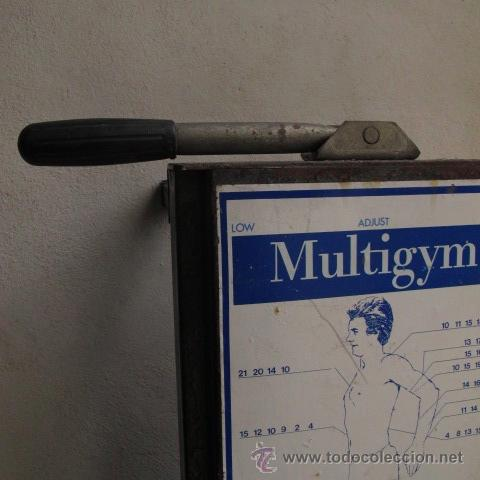 Coleccionismo deportivo: antiguo banco gimnasia maquina remo vintage MULTIGYM - Foto 2 - 48439529