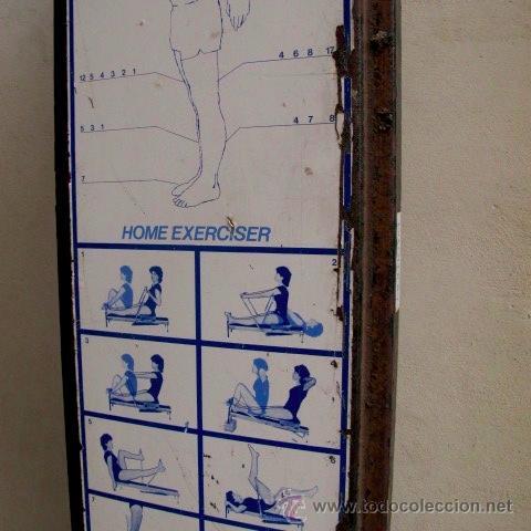Coleccionismo deportivo: antiguo banco gimnasia maquina remo vintage MULTIGYM - Foto 3 - 48439529