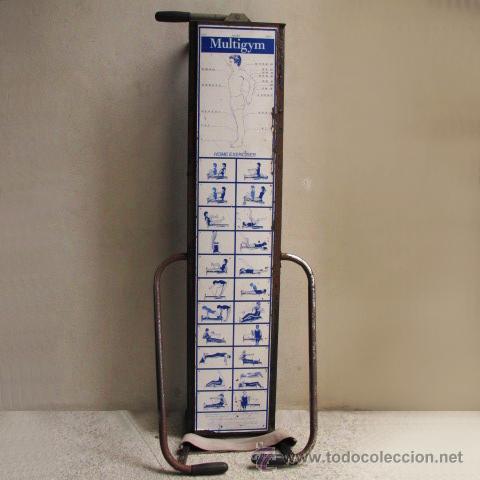 Coleccionismo deportivo: antiguo banco gimnasia maquina remo vintage MULTIGYM - Foto 4 - 48439529