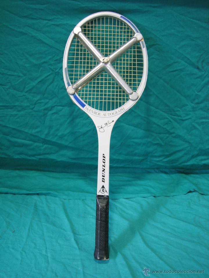 Coleccionismo deportivo: Raqueta de tenis Dunlop. Mc Enroe Autograph - Foto 2 - 49081927