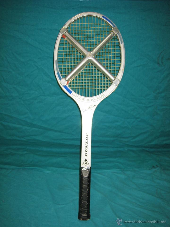Coleccionismo deportivo: Raqueta de tenis Dunlop. Mc Enroe Autograph - Foto 3 - 49081927