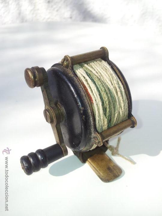Coleccionismo deportivo: precioso antiguo carrete pesca PRINCIPIOS S.XX..marca albeas m.d - Foto 2 - 50874643