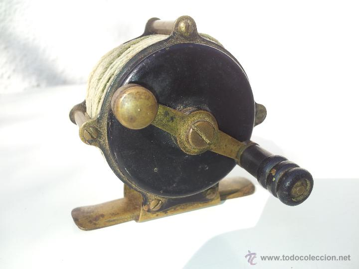 Coleccionismo deportivo: precioso antiguo carrete pesca PRINCIPIOS S.XX..marca albeas m.d - Foto 9 - 50874643