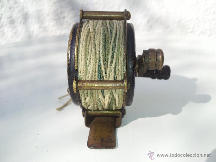 Coleccionismo deportivo: precioso antiguo carrete pesca PRINCIPIOS S.XX..marca albeas m.d - Foto 10 - 50874643