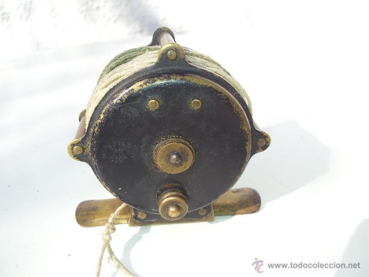 Coleccionismo deportivo: precioso antiguo carrete pesca PRINCIPIOS S.XX..marca albeas m.d - Foto 11 - 50874643