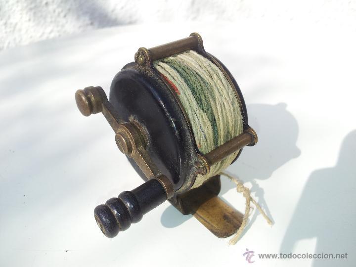 Coleccionismo deportivo: precioso antiguo carrete pesca PRINCIPIOS S.XX..marca albeas m.d - Foto 13 - 50874643