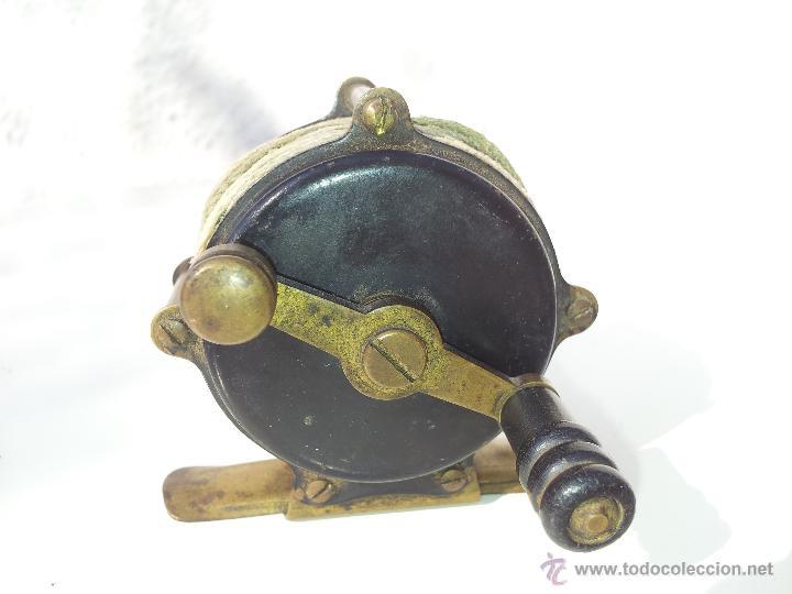 Coleccionismo deportivo: precioso antiguo carrete pesca PRINCIPIOS S.XX..marca albeas m.d - Foto 15 - 50874643