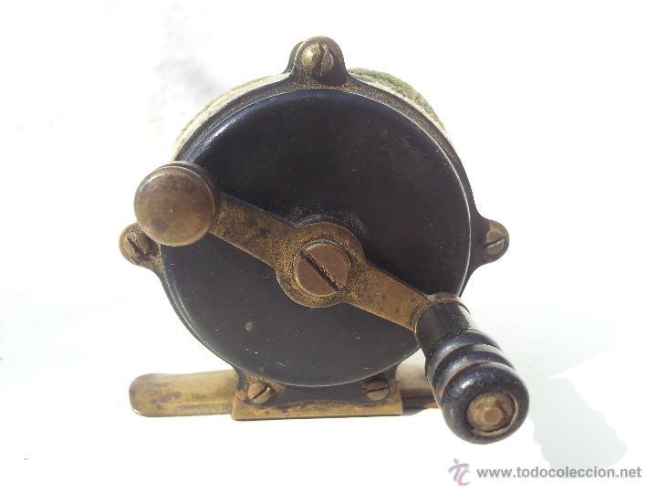 Coleccionismo deportivo: precioso antiguo carrete pesca PRINCIPIOS S.XX..marca albeas m.d - Foto 16 - 50874643