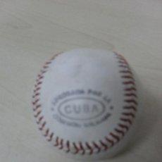 Coleccionismo deportivo: PELOTA DE BEISBOL ,APROBADA POR LA COMISION DE CUBA GOMEXION . Lote 51016885