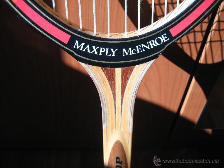 Coleccionismo deportivo: RAQUETA DE TENIS DE MADERA DUNLOP MODELO MAXPLY MCENROE - Foto 3 - 52633141