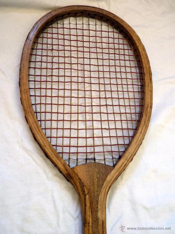 Coleccionismo deportivo: EXCEPCIONAL RAQUETA DE TENIS SIGLO XiX - Foto 3 - 54317924