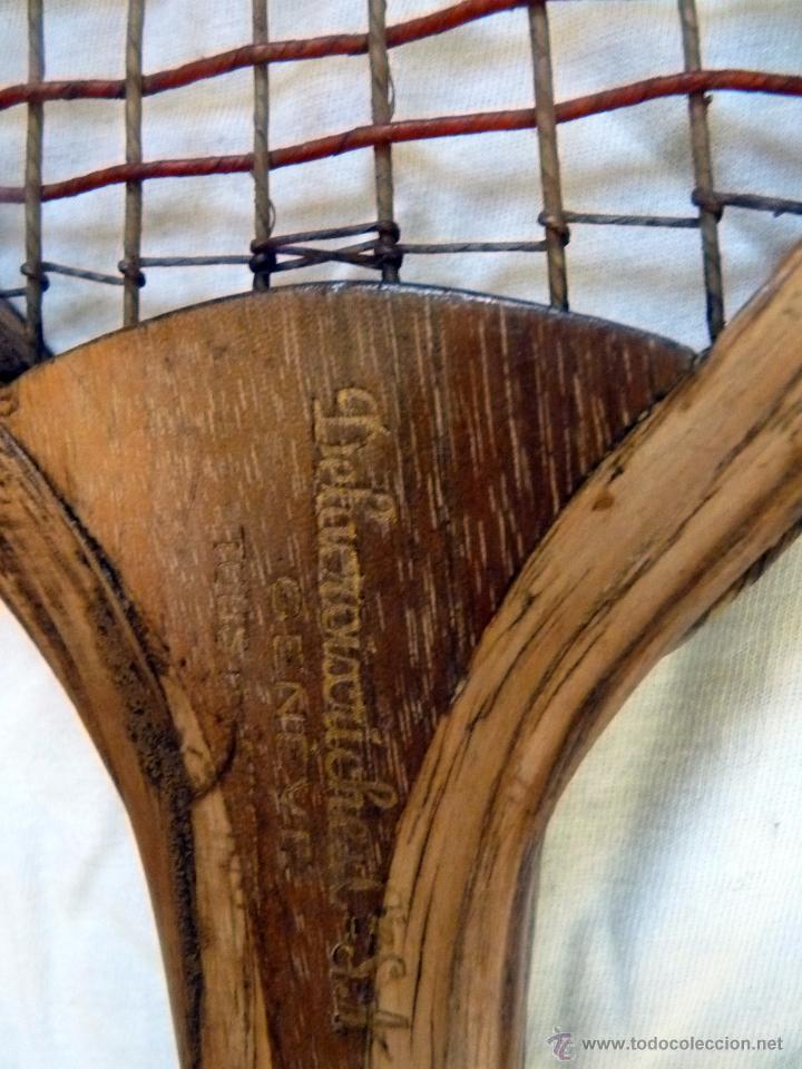 Coleccionismo deportivo: EXCEPCIONAL RAQUETA DE TENIS SIGLO XiX - Foto 6 - 54317924
