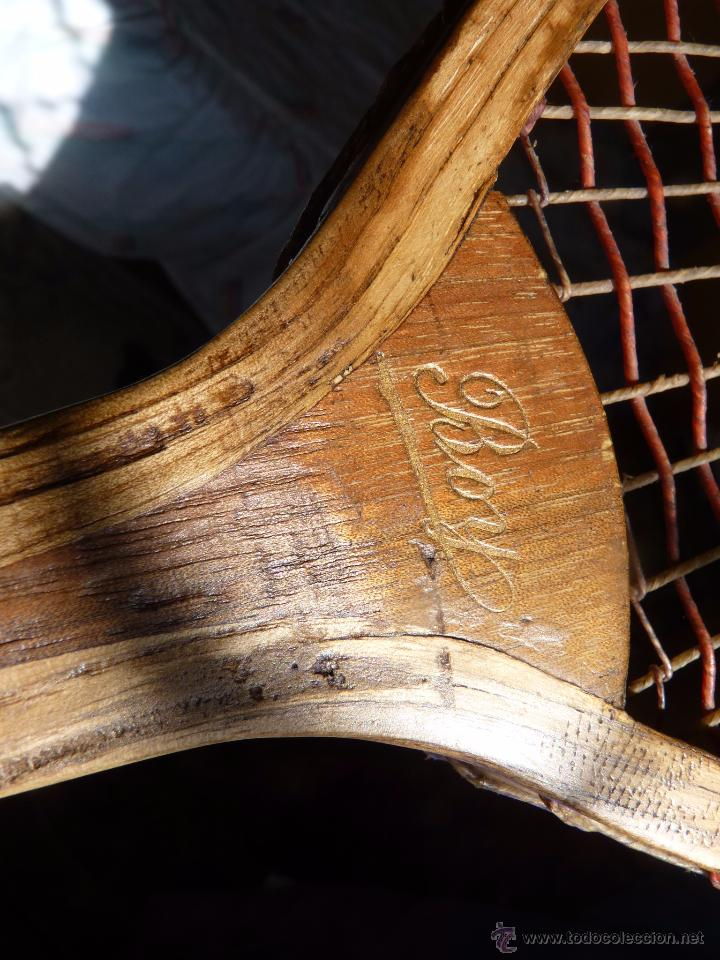 Coleccionismo deportivo: EXCEPCIONAL RAQUETA DE TENIS SIGLO XiX - Foto 9 - 54317924