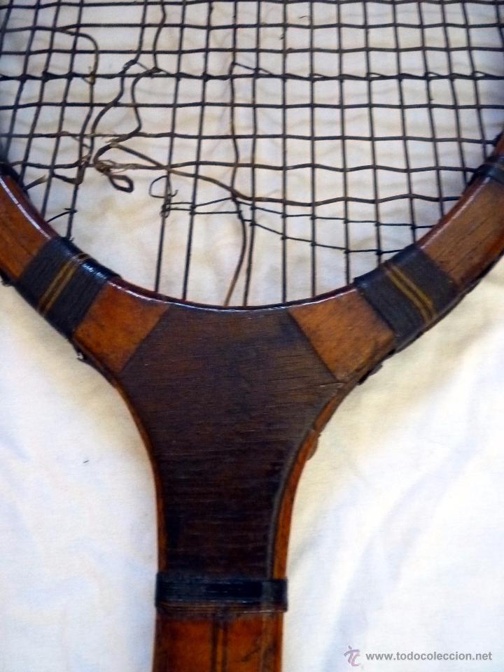 Coleccionismo deportivo: PRECIOSA RAQUETA DE TENIS PRINCIPIOS SIGLO XX - Foto 3 - 54318168