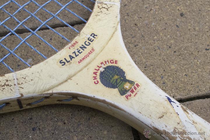 Coleccionismo deportivo: Raqueta de madera Slazenger - Foto 2 - 54598124
