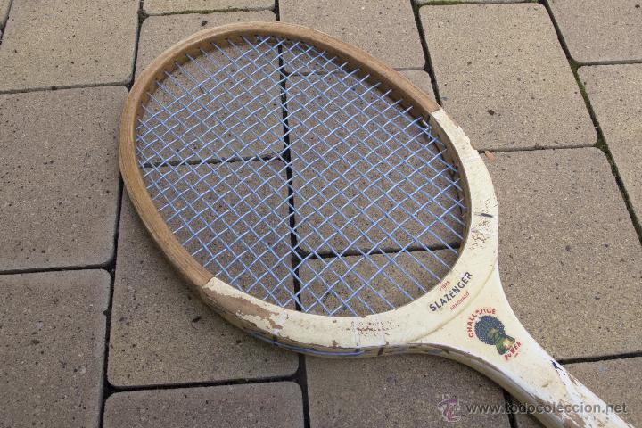 Coleccionismo deportivo: Raqueta de madera Slazenger - Foto 3 - 54598124