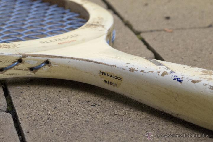 Coleccionismo deportivo: Raqueta de madera Slazenger - Foto 6 - 54598124