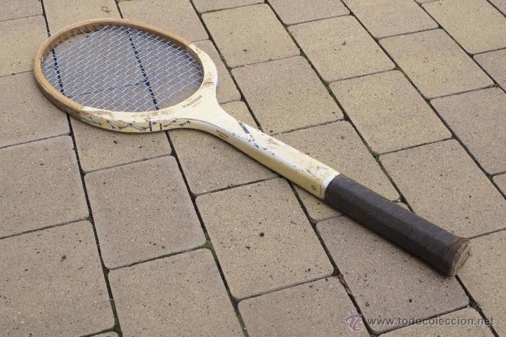 Coleccionismo deportivo: Raqueta de madera Slazenger - Foto 7 - 54598124