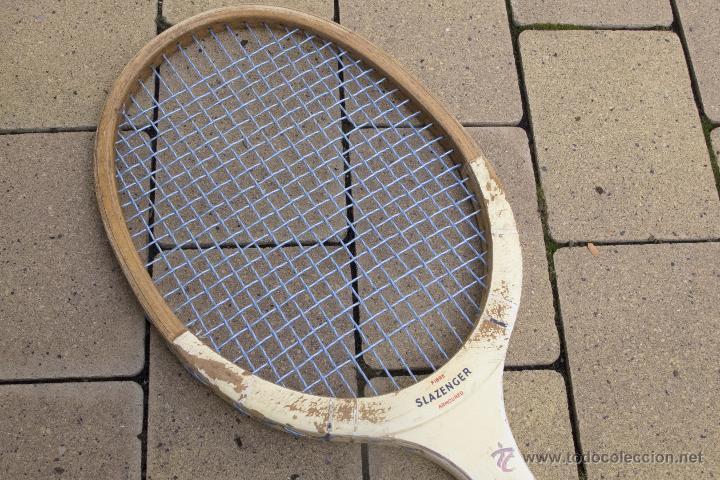Coleccionismo deportivo: Raqueta de madera Slazenger - Foto 8 - 54598124