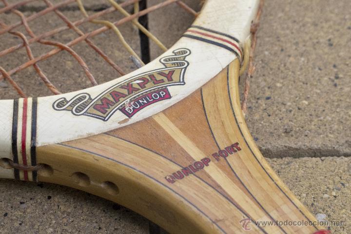 Coleccionismo deportivo: Raqueta de madera Maxply Dunlop - Foto 2 - 54598151