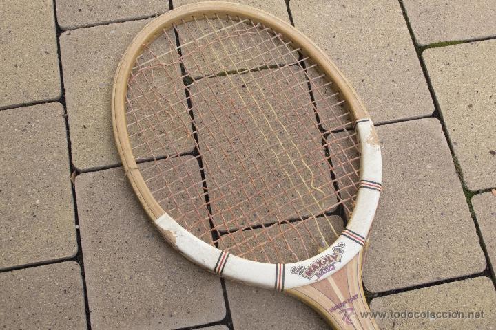 Coleccionismo deportivo: Raqueta de madera Maxply Dunlop - Foto 6 - 54598151