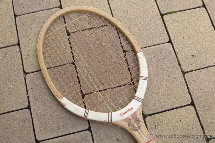 Coleccionismo deportivo: Raqueta de madera Maxply Dunlop - Foto 7 - 54598151