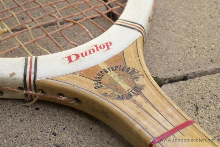 Coleccionismo deportivo: Raqueta de madera Maxply Dunlop - Foto 8 - 54598151