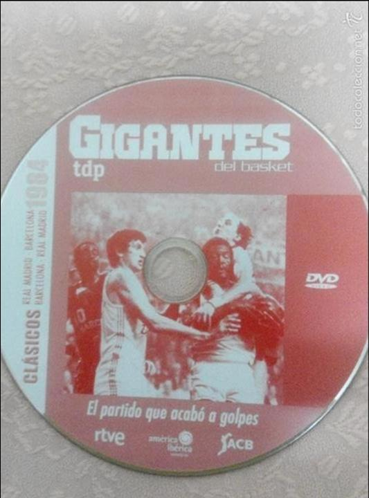 Coleccionismo deportivo: CLÁSICOS DEL BASKET - GIGANTES DEL BASKET- EL PARTIDO QUE ACABÓ A GOLPES 13/04/1984 - Foto 3 - 131407015