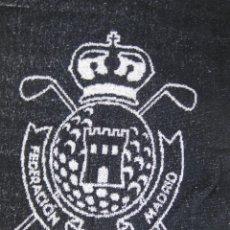 Coleccionismo deportivo: LOTE 3 TOALLAS FEDERACION MADRILEÑA DE GOLF MADRID . Lote 57724022