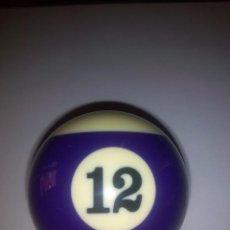 Collectionnisme sportif: BOLA DE BILLAR AUTENTICA RAYADA DEL Nº 12. Lote 59990547