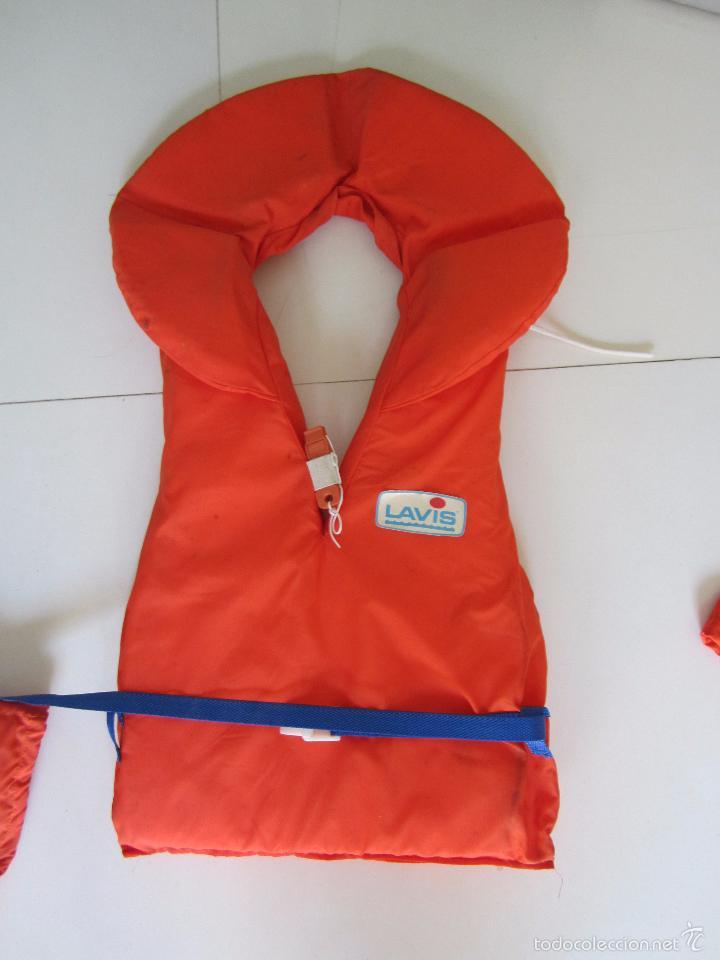 Coleccionismo deportivo: 4 chalecos salvavidas - Foto 5 - 60037259