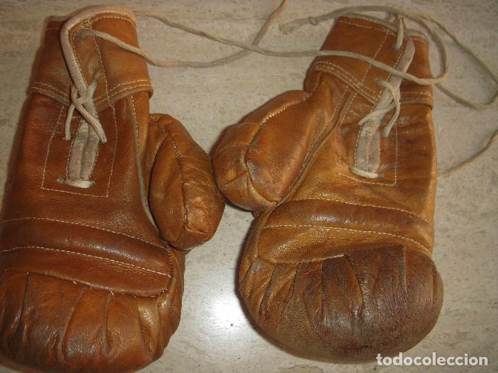 Coleccionismo deportivo: antiguos guantes de boxeo - Foto 5 - 61427967
