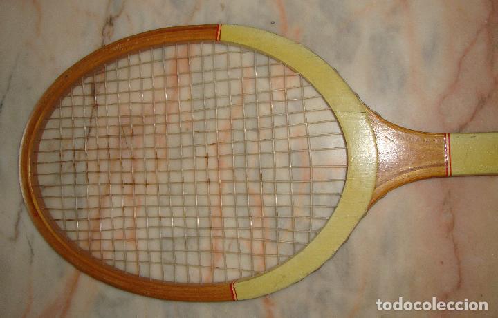 Coleccionismo deportivo: INTERESANTE RAQUETA DE TENIS MADERA MUNDIAL FOR CHAMPIONSHIP PLAY - Foto 4 - 62981352