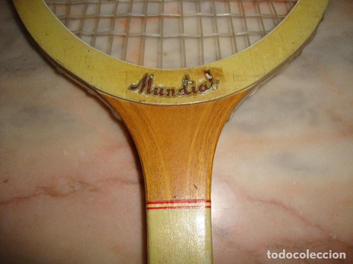 Coleccionismo deportivo: INTERESANTE RAQUETA DE TENIS MADERA MUNDIAL FOR CHAMPIONSHIP PLAY - Foto 7 - 62981352