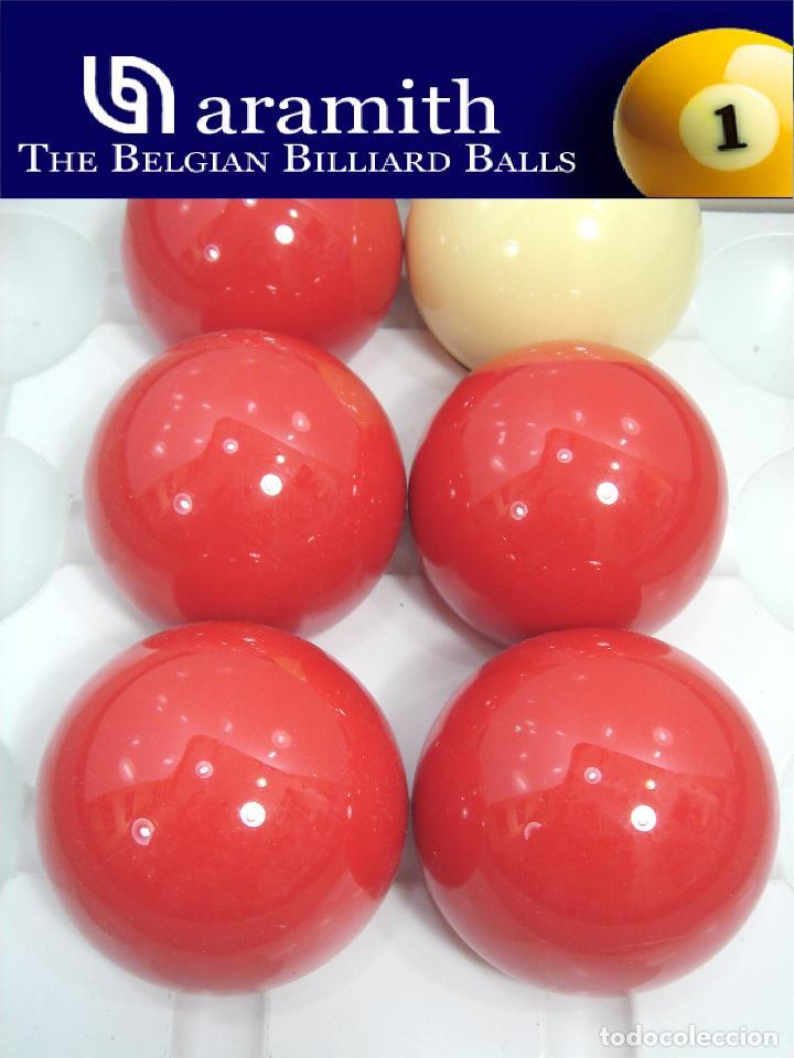 EXCEPCIONAL JUEGO 6 BOLAS - ARAMITH BELGIUM - BILLAR SNOOKER POOL - SET 2 1/4 1/8 - ¡¡NUEVAS ¡¡ BOLA (Coleccionismo Deportivo - Material Deportivo - Otros deportes)
