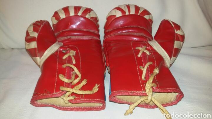 Coleccionismo deportivo: Antiguos Guantes Boxeo . - Foto 2 - 73701825