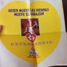Collezionismo sportivo: GRAN PEGATINA,CYCLOSTATIC DE G.A.C. GAC.MOBYLETTE.. Lote 74261655