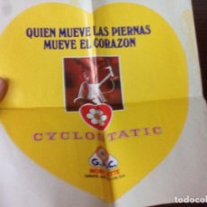 Coleccionismo deportivo: GRAN PEGATINA,CYCLOSTATIC DE G.A.C. GAC.MOBYLETTE.. Lote 74261655