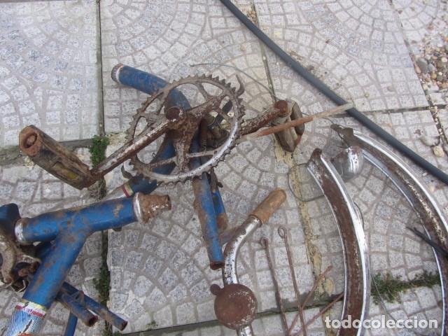 Coleccionismo deportivo: Desguace o despiece de antigua bicicleta BH. Lo que se ve en la foto - Foto 4 - 74905163