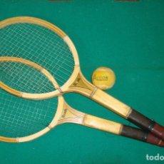Coleccionismo deportivo: 5 PAREJAS DE RAQUETAS DE TENIS. Lote 77745209
