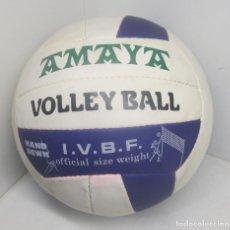 Coleccionismo deportivo: BALÓN, PELOTA VOLLEY BALL VOLEIBOL AMAYA, I.V.B.F., AÑOS 80. Lote 85761820