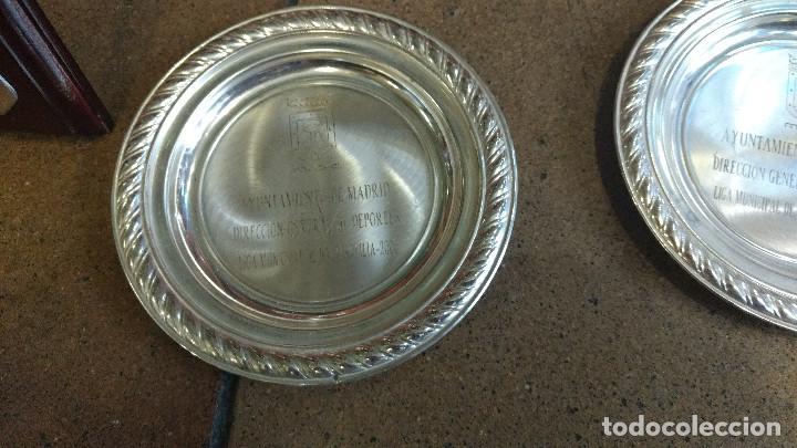 Coleccionismo deportivo: Lote de trofeos de halterofilia o levantamiento de pesas San Isidro Madrid. - Foto 6 - 89248796