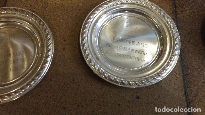 Coleccionismo deportivo: Lote de trofeos de halterofilia o levantamiento de pesas San Isidro Madrid. - Foto 7 - 89248796