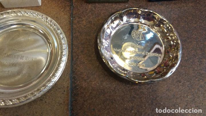 Coleccionismo deportivo: Lote de trofeos de halterofilia o levantamiento de pesas San Isidro Madrid. - Foto 8 - 89248796
