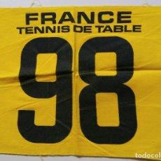 Coleccionismo deportivo: DORSAL DEL TORNEO INTERNACIONAL DE PARIS (FRANCIA) TENIS DE MESA 1974. Lote 89441540