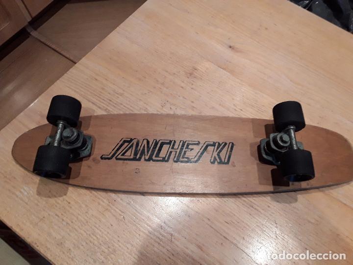 Coleccionismo deportivo: Sancheski antiguo monopatin madera. - Foto 2 - 90109400