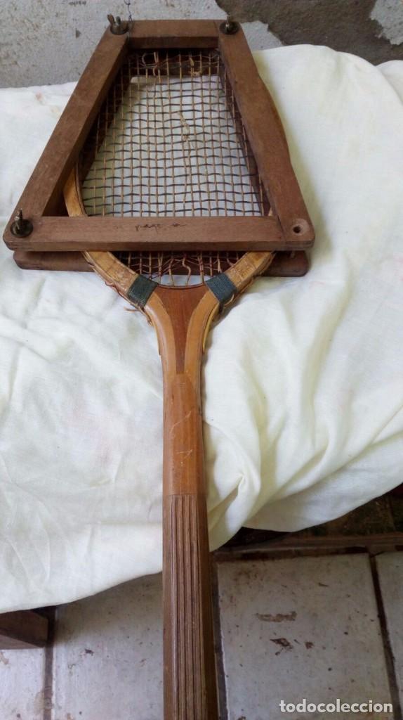 Coleccionismo deportivo: Pareja raquetas de tenis, años 50 - Foto 4 - 96629063